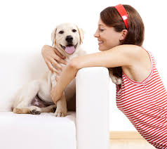 Image result for dog and a lady