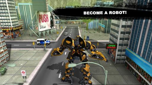 Futuristic Robot Car Fighting