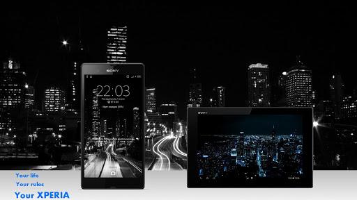 Тема eXPERIAmz - Night city