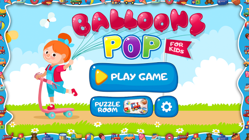 Balloons Pop Puzzle for Kids