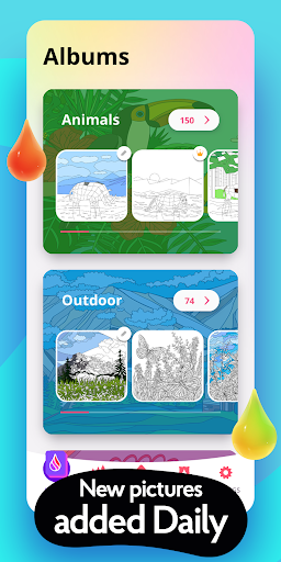 Colorain: Paint by Numbers or use Coloring Palette  screenshots 5