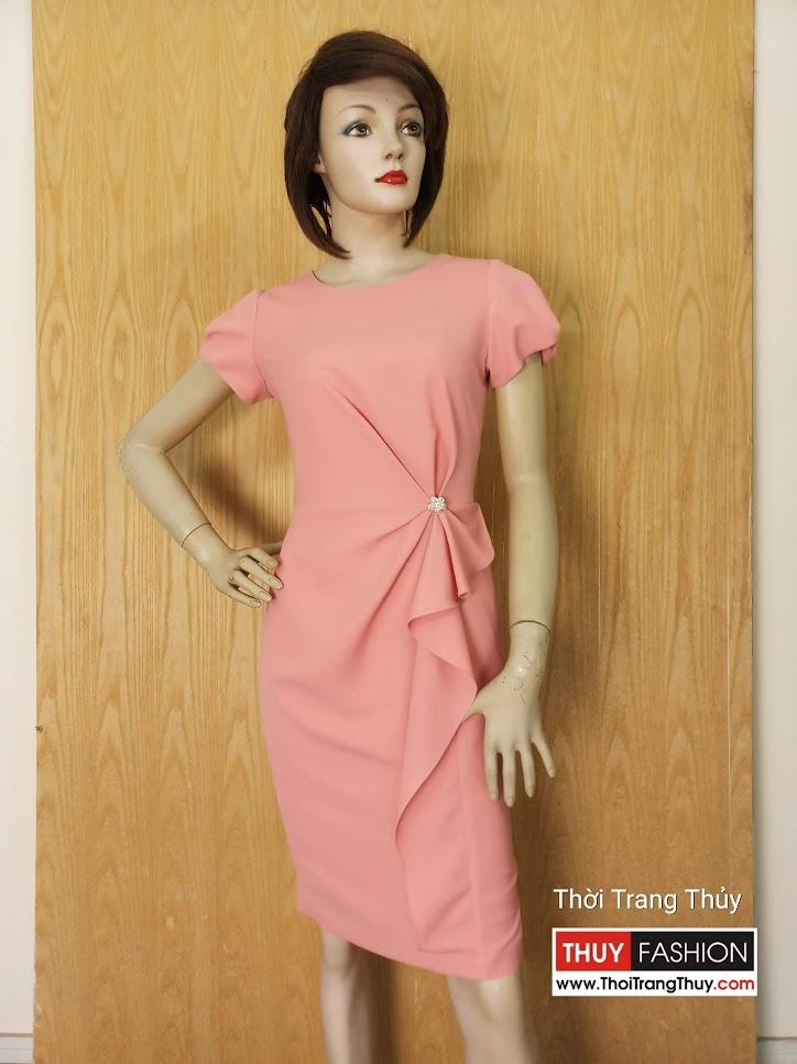 Váy dự tiệc xếp ly hoa eo V626 Thời Trang Thủy