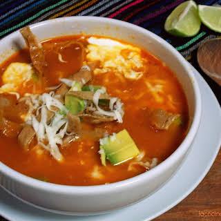 Sopa Azteca (Tortilla Soup).