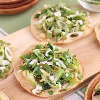 Green Veggie Tostadas Recipe