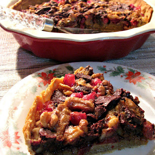 Chocolate Walnut Cranberry Pie