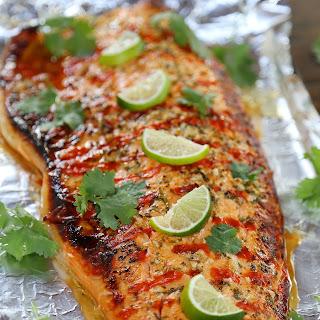Honey Cilantro Lime Salmon in Foil Recipe