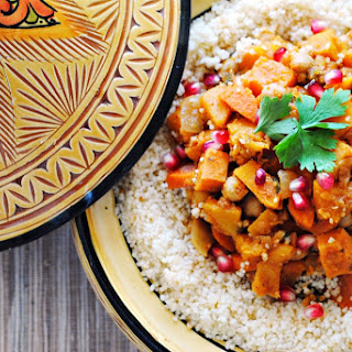 Butternut Squash, Sweet Potato, and Chickpea Tagine with Couscous.
