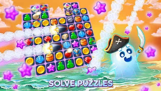 Pirates & Pearls: A Treasure Matching Puzzle MOD (Unlimited Health) 8