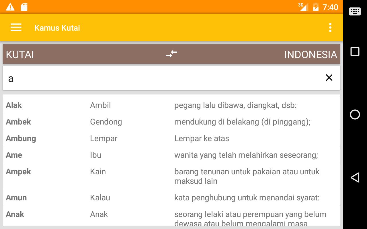Kamus Bahasa Kutai Apl Android Di Google Play