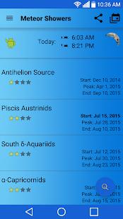 Meteor Shower Calendar- screenshot thumbnail