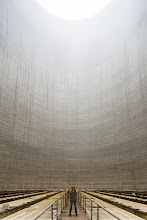 Photo: Standing inside a cooling tower of a (never completed) nuclear power plant.