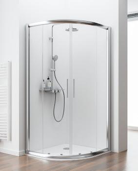 Paroi de douche arrondie, 80 à 120 cm