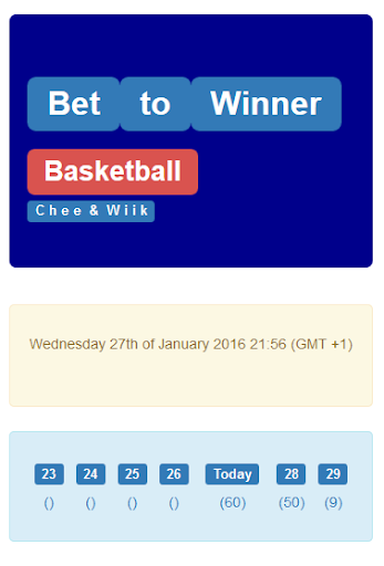 Bet to Winner Basketball