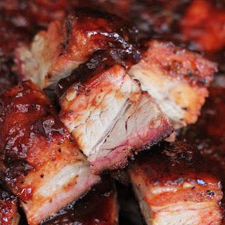 BBQ Smoked Pork Belly.