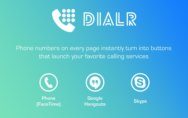 Dialr chrome extension