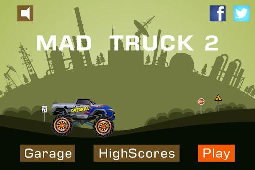 Mad Truck 2 -- physics monster truck hit zombie painmod.com screenshots 1