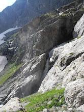 Photo: La cascata vista dalla bastionata di roccia