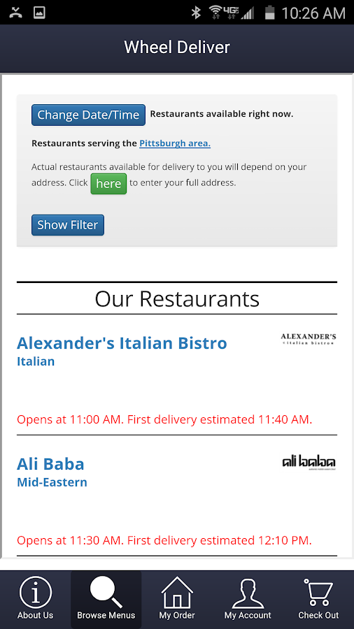 Wheel Deliver Meal Delivery- screenshot