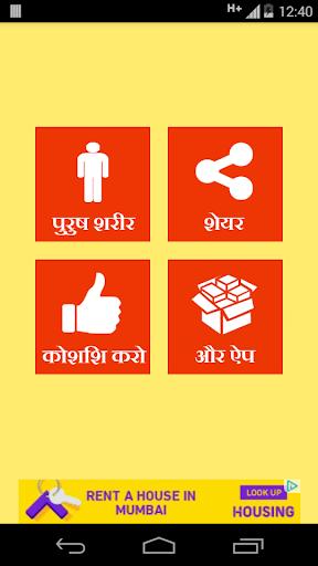 Male Body Guide in Hindi