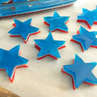 Star Red White and Blue Jello