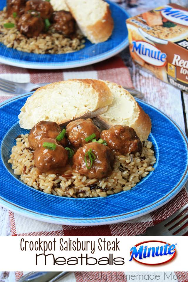 Crockpot Salisbury Steak Meatballs Recipe