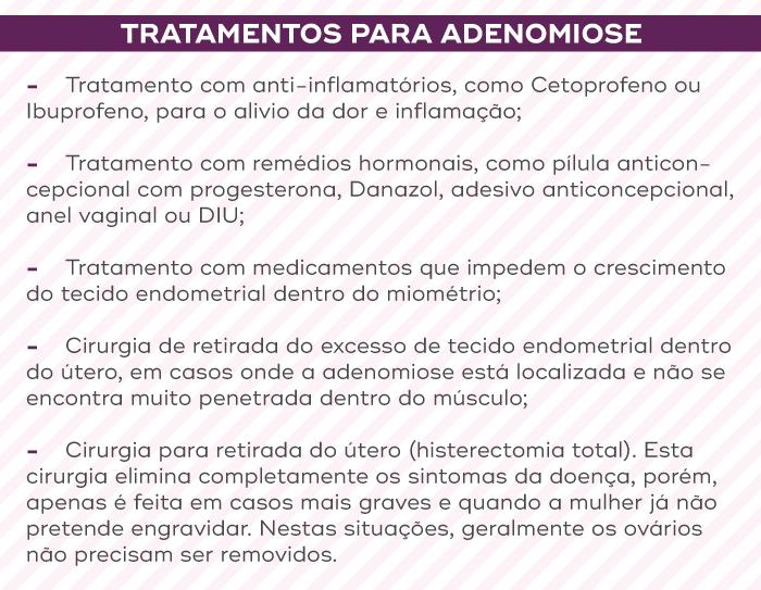 Tratamentos para adenomiose