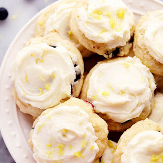 Blueberry Lemon Cookies with Lemon Cream Cheese Frosting.