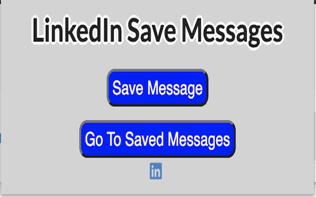 LinkedIn Save Message