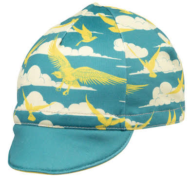 All-City Fly High Cycling Cap - Teal, Gold, One Size alternate image 3