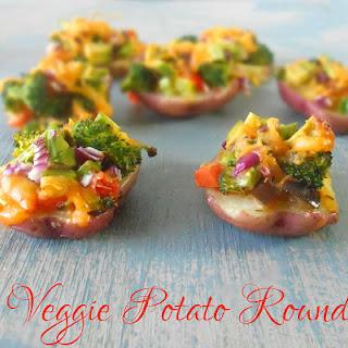 Potato Rounds – Veggie and Cheesy