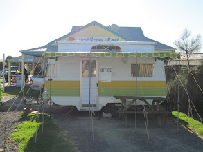 Photo: The front office for the Apostles Camping Park and Cabins