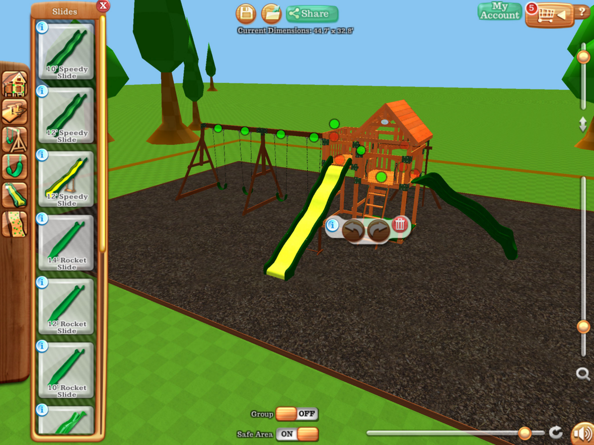 Swing Set Configurator- screenshot