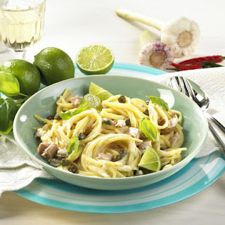 Spaghetti with Creamy Tuna Sauce.
