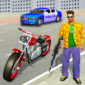 Vegas Crime City War Gangster Moto Bike Crime Game icon