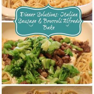 Italian Sausage & Broccoli Alfredo Bake