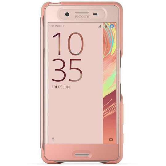 Sony Style Cover Touch SCR50 fodral för Sony Xperia X Pink