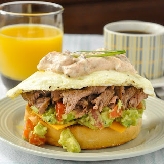 Steak & Eggs Breakfast Sandwich for World Egg Day