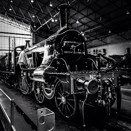 Steam Train by Colin Wood - Novices Only Objects & Still Life ( steam train, railway, black and white, train )