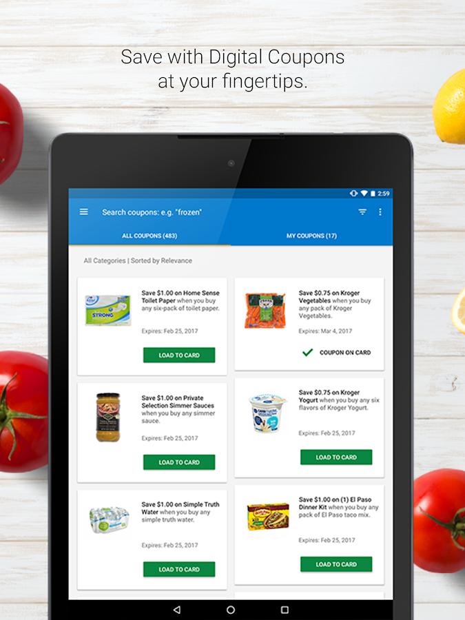 kroger mobile coupon app