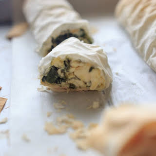 Spinach Phyllo Roll Ups.
