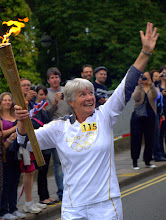 Photo: The Olympic flame is here on Mill Road! Cambridge 2012