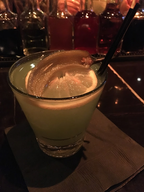 The Peabody: tequila, lemon, serrano-chili syrup, cucumber juice and a habanero tincture.