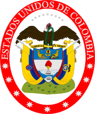 Coat of arms of United States of Colombia.svg