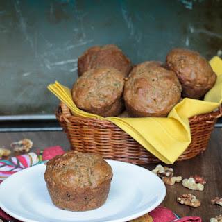 Flax and Walnut Zucchini Muffins