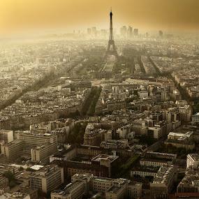 Paris by Jesús Sánchez Ibáñez - City,  Street & Park  Skylines ( paris, panoramica )
