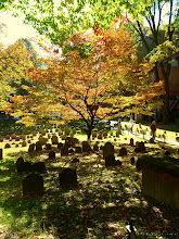 Photo: Peaceful cemetry in the heart of Boston.