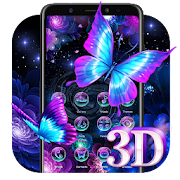 App 3D Neon Butterfly Shiny Theme APK for Windows Phone