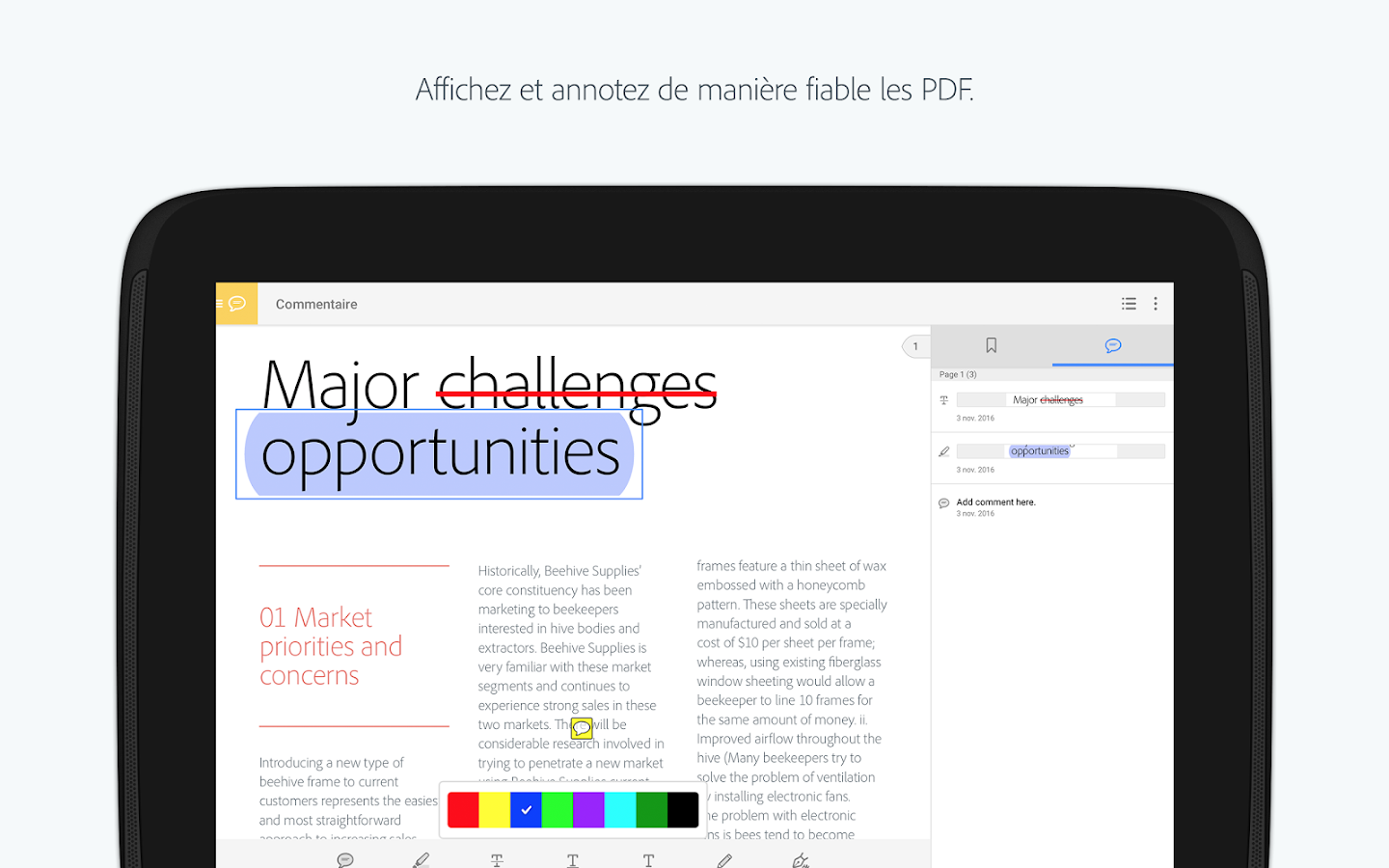 Adobe Acrobat Reader – Capture d'écran