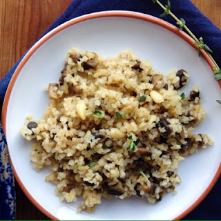 Sautéed Mushrooms with Thyme and Bulgur.