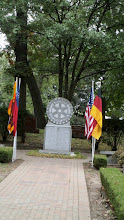 Photo: Respecting the visiting guests with their Flags